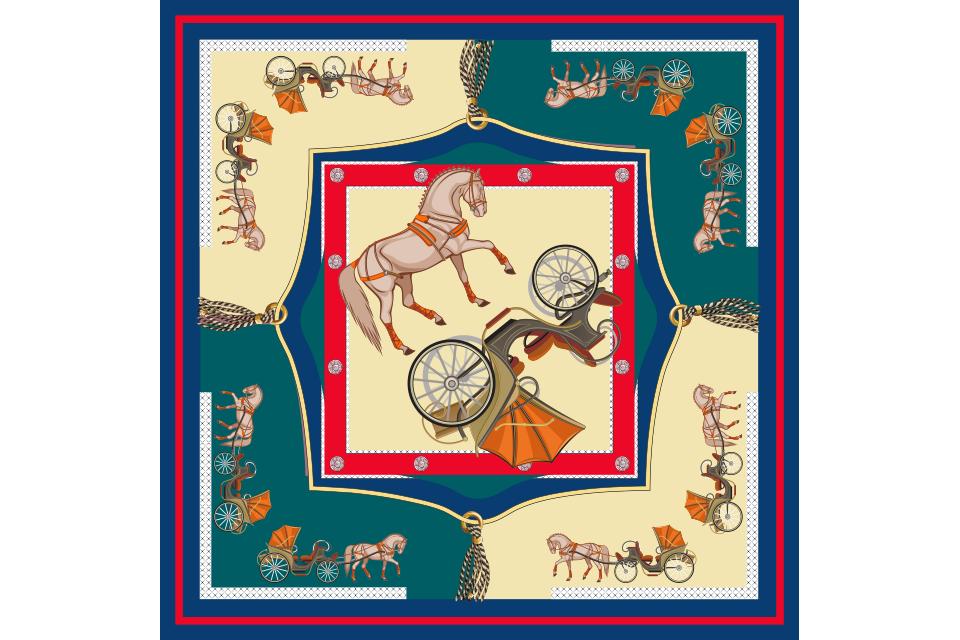 khăn lụa nghệ thuật phục hưng