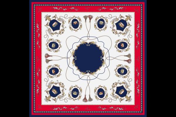 khăn lụa vuông vương quyền đỏ