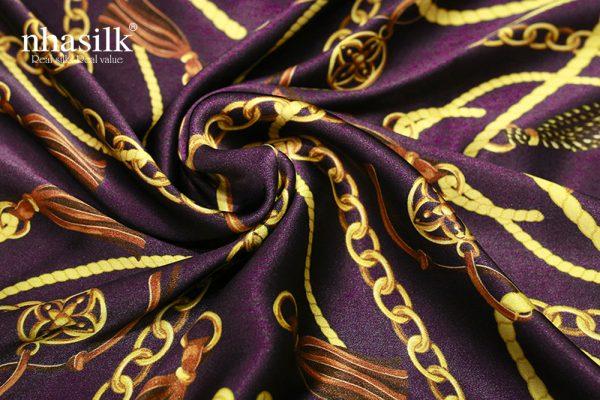 khăn lụa nghệ thuật đương đại tím