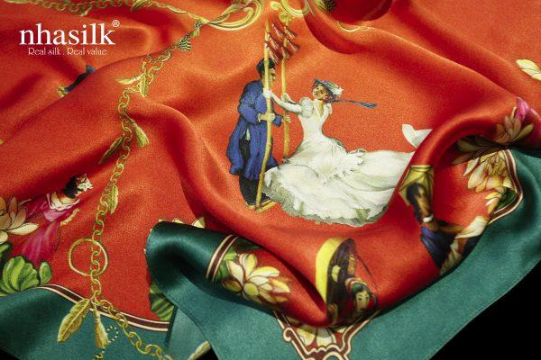 khăn lụa lễ hội đu tiên