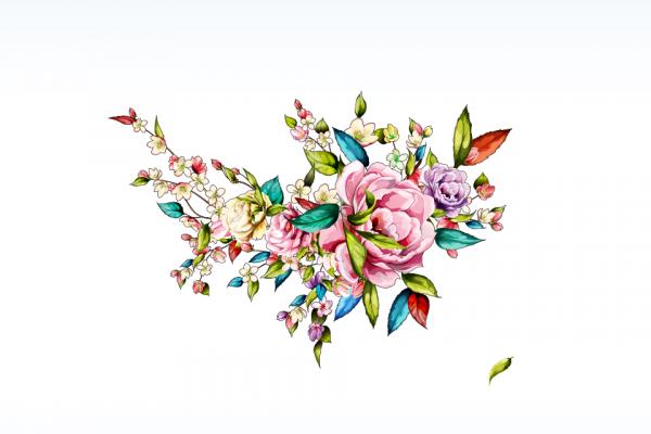 khăn lụa thêu hình hoa