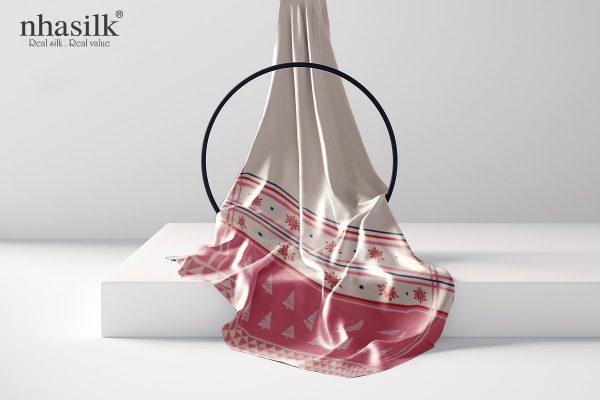 khăn lụa dài họa tiết xmas 3
