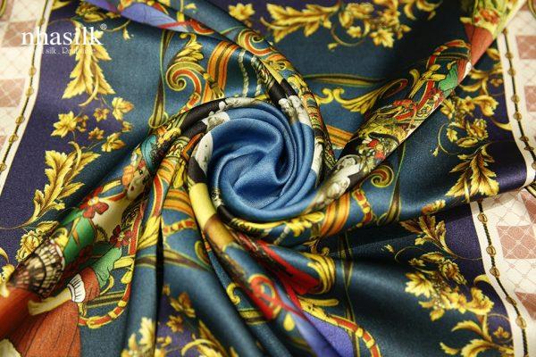 khăn lụa vuông lady beauty