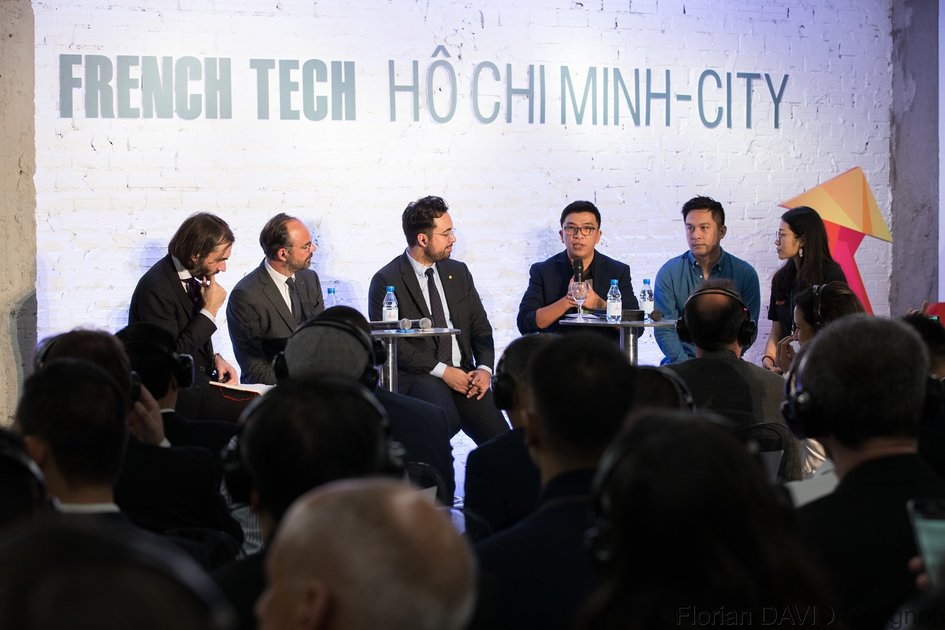 Nguyen Thien Nhan and shared the startup story, the competitiveness of people in the robot era and showed expectations about the French