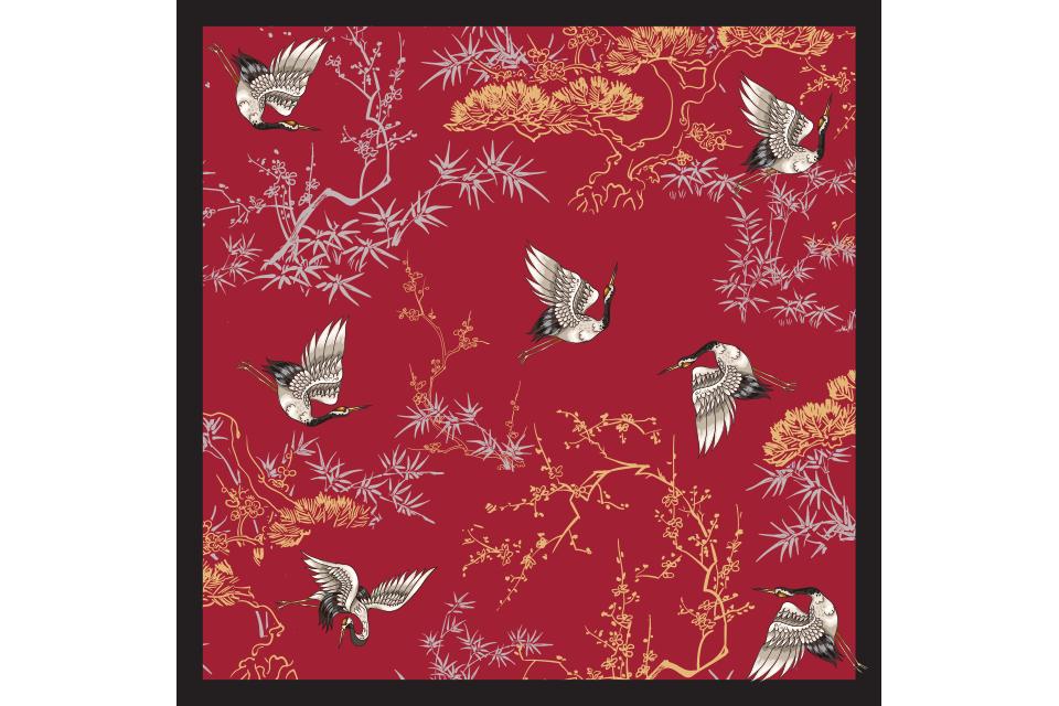 khăn lụa nhasilk hồng hạc trúc