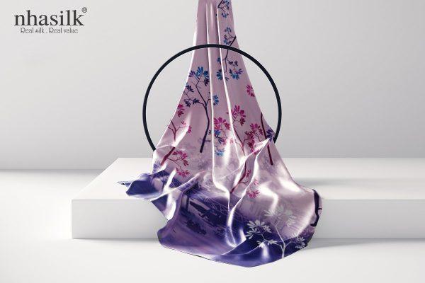 khăn lụa dài cầu thê húc hồng