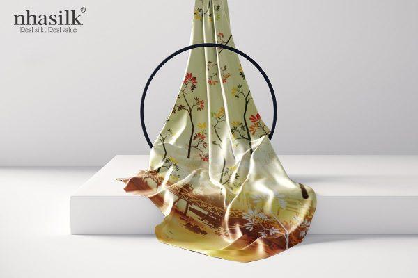 khăn lụa dài cầu thê húc vàng