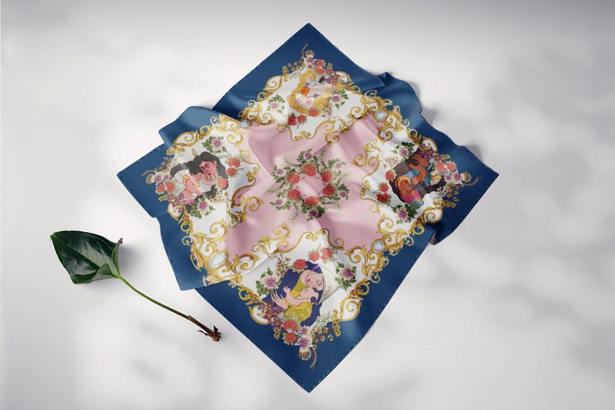 khăn lụa vuông huyền thoại mẹ