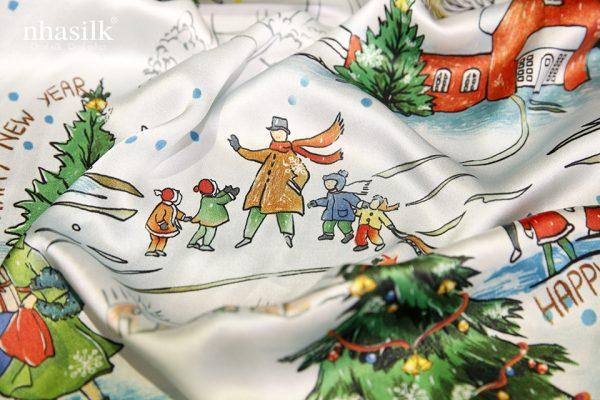 khăn lụa giáng sinh