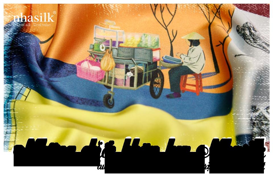 Những chiếc khăn lụa Nhasilk luôn chứa đựng những giá trị văn hoá Việt