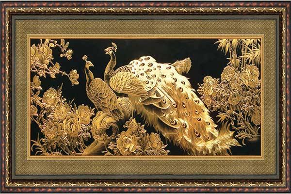 Bức tranh mạ vàng hình rồng