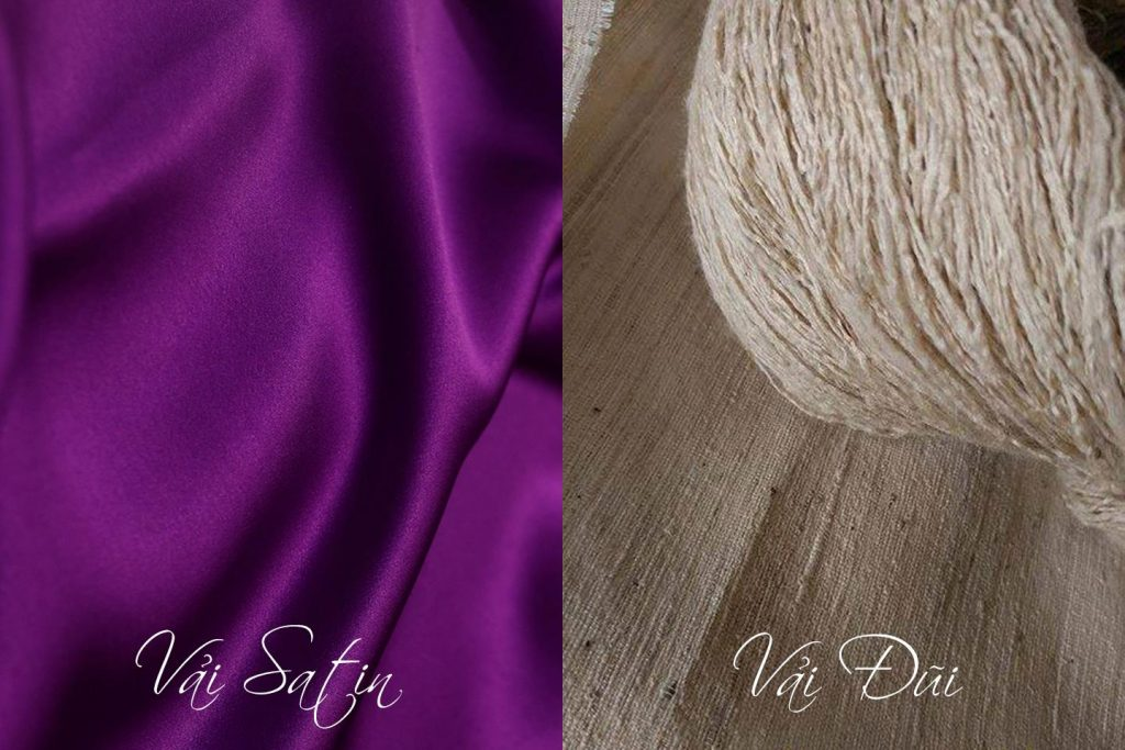 Sự khác nhau giữ vải Satin và vải Đũi.