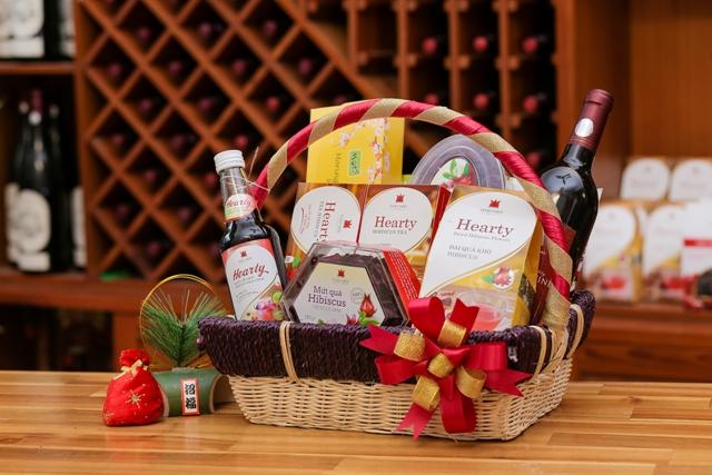 Giỏ quà tặng các sản phẩm tốt cho sức khỏe từ đài quả Hibiscus