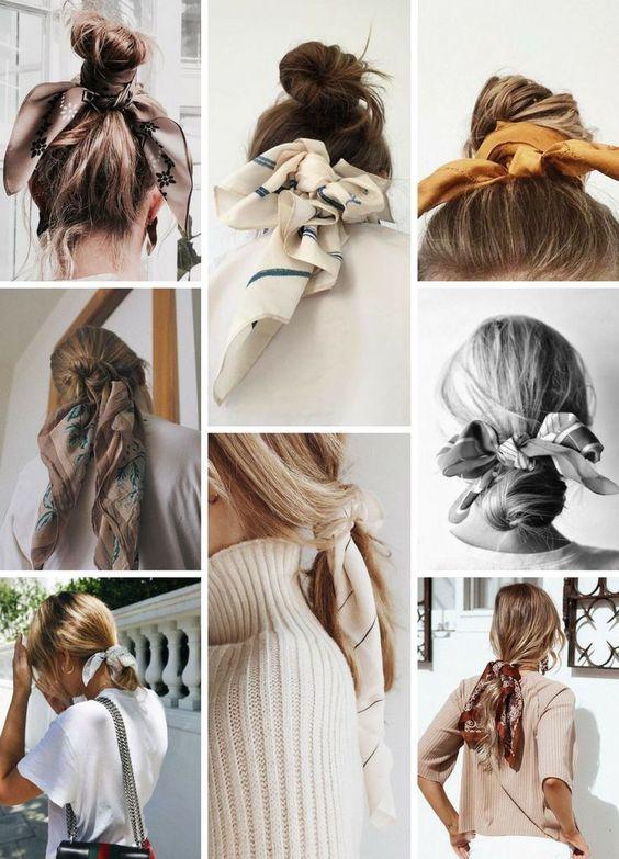 Cột tóc bằng khăn turban