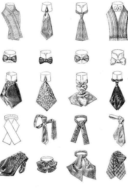 sự thay đổi kiểu dáng cà vạt qua các thời kỳ