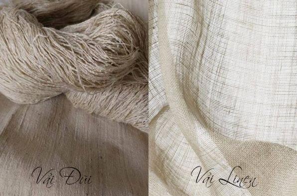 Sự khách nhau giữa vải Đũi và vải Linen.