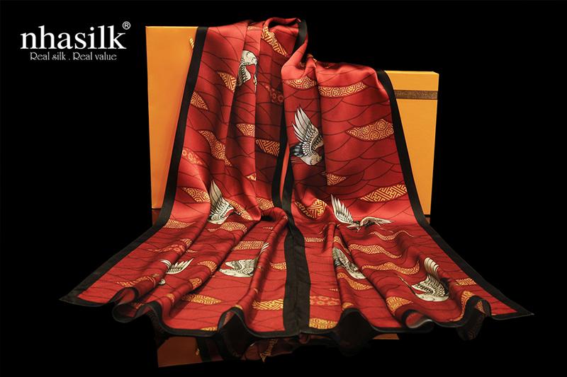 khăn choàng cổ lụa cao cấp Nhasilk