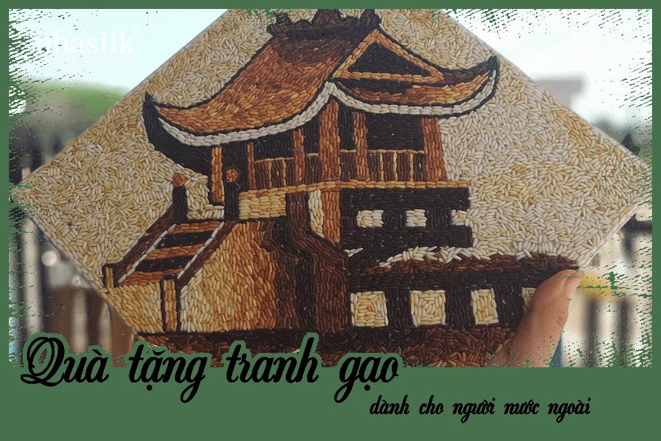 Quà tặng tranh gạo dành cho người nước ngoài