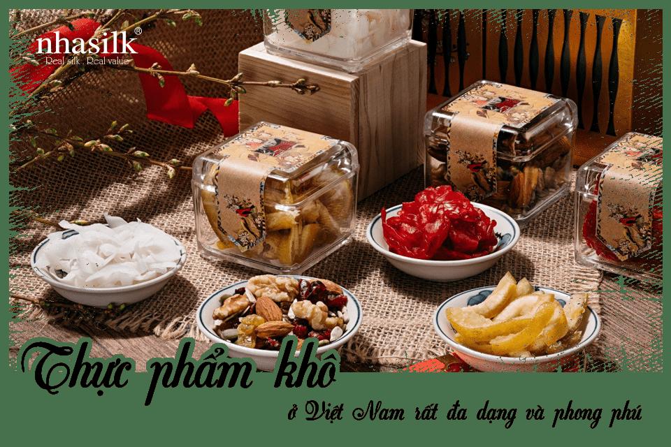 Thực phẩm khô ở Việt Nam rất đa dạng và phong phú