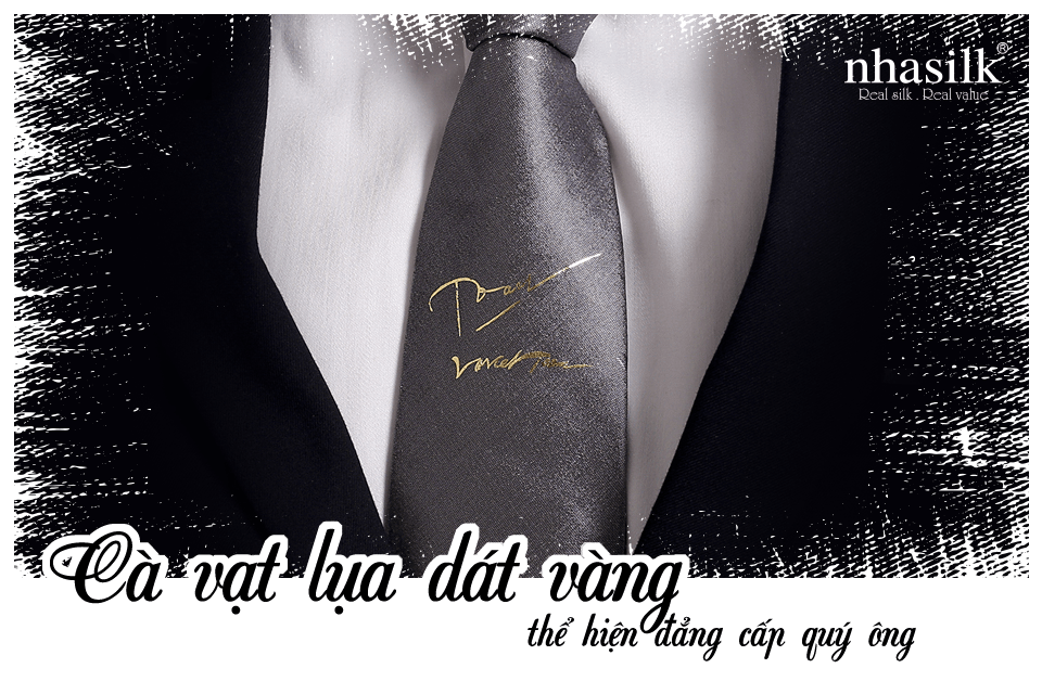 Cà vạt lụa dát vàng thể hiện đẳng cấp quý ông