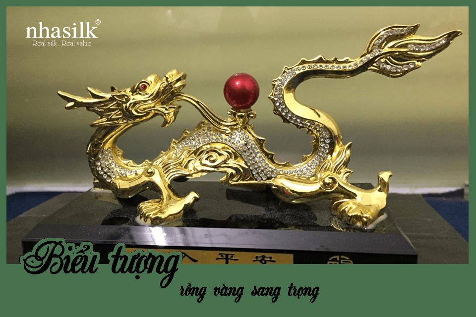 Biểu tượng rồng vàng sang trọng