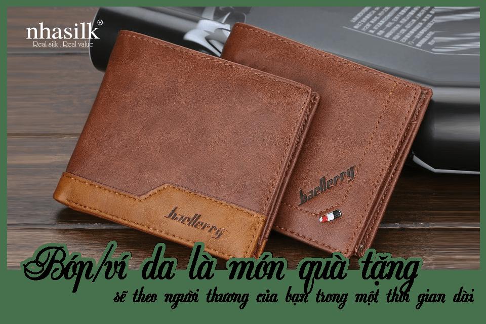 Bóp/ví da là món quà tặng sẽ theo người thương của bạn trong một thời gian dài