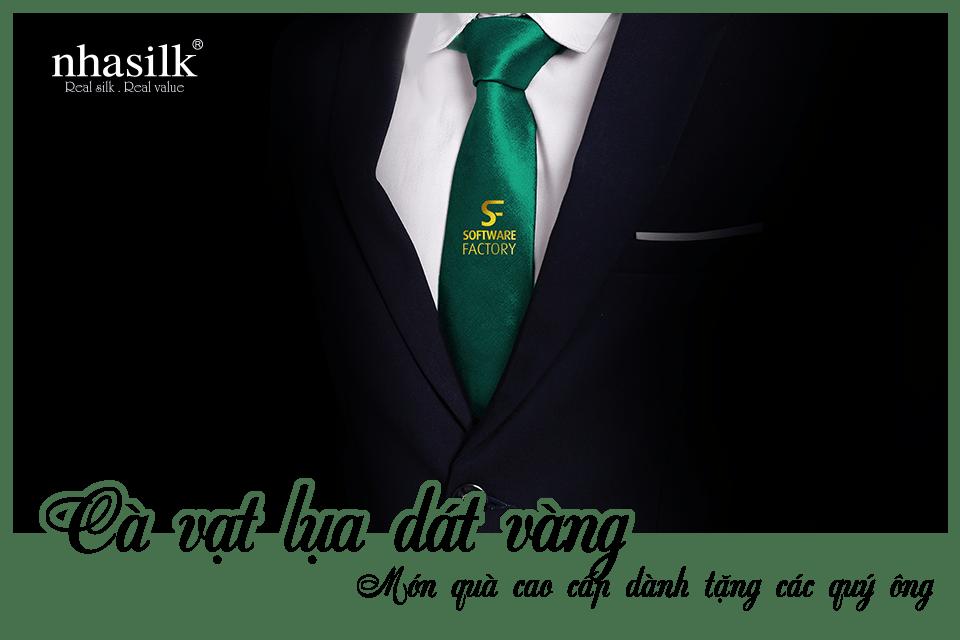 Cà vạt lụa dát vàng - Món quà cao cấp dành tặng các quý ông