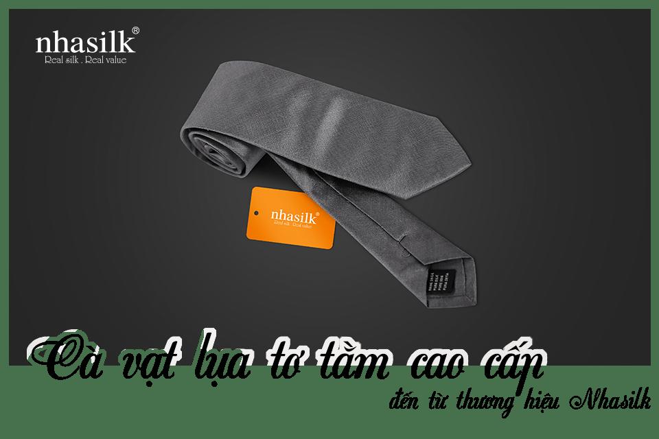 Cà vạt lụa tơ tằm cao cấp đến từ thương hiệu Nhasilk