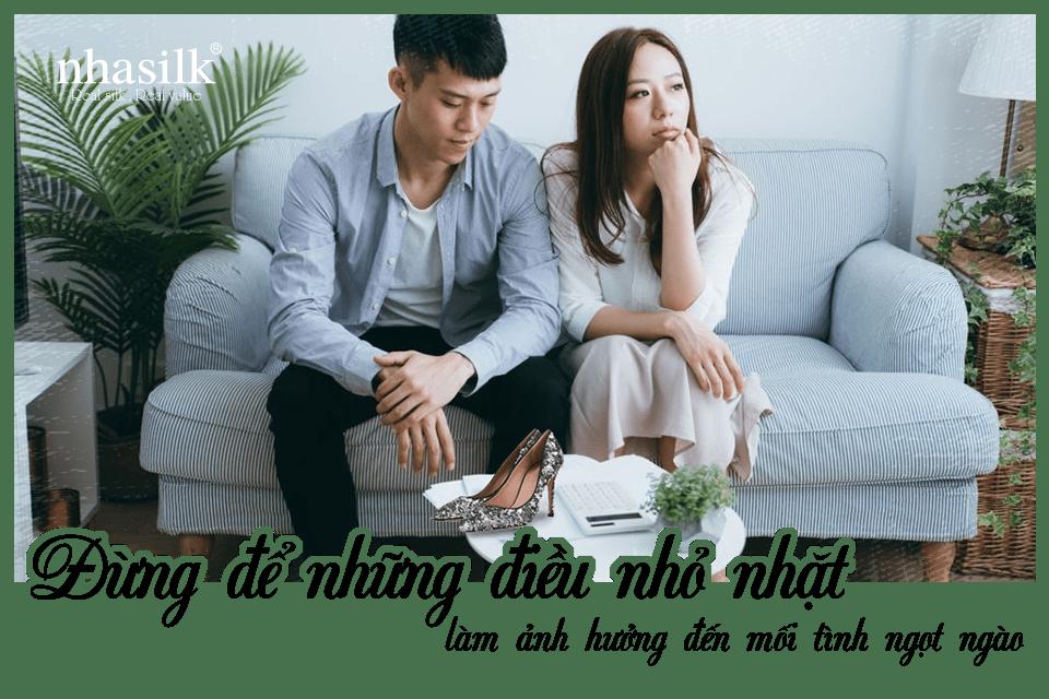 Đừng để những điều nhỏ nhặt làm ảnh hưởng đến mối tình ngọt ngào