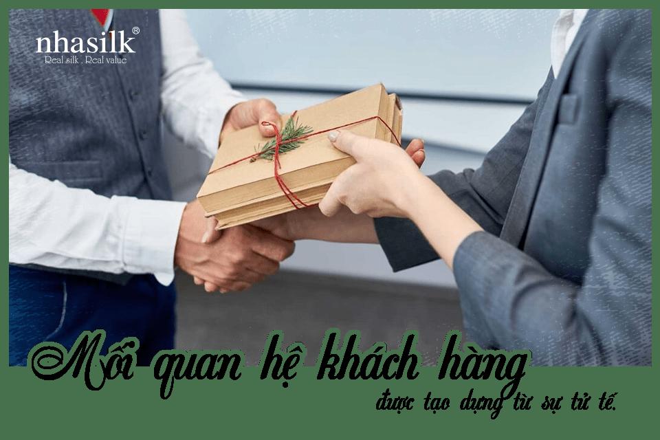 Mối quan hệ khách hàng được tạo dựng từ sự tử tế.