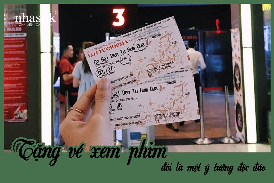 Tặng vé xem phim đôi là một ý tưởng độc đáo