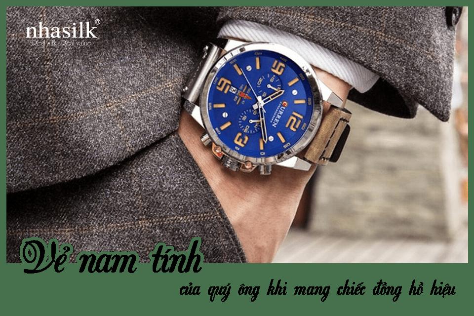 Vẻ nam tính của quý ông khi mang chiếc đồng hồ hiệu
