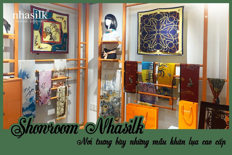Showroom Nhasilk - Nơi trưng bày những mẫu khăn lụa cao cấp