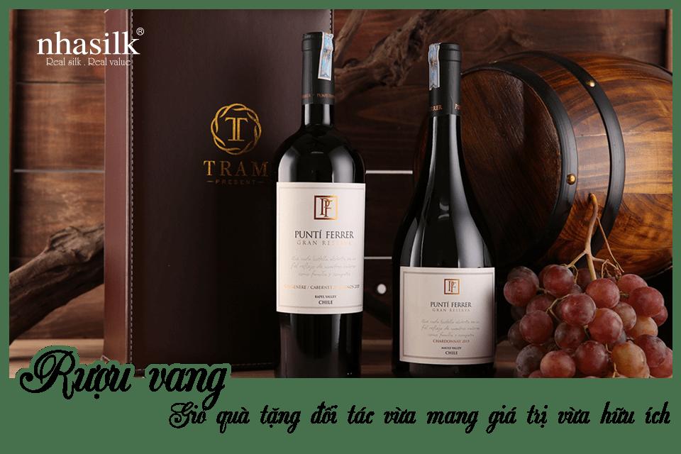 Rượu vang – Giỏ quà tặng đối tác vừa mang giá trị vừa hữu ích