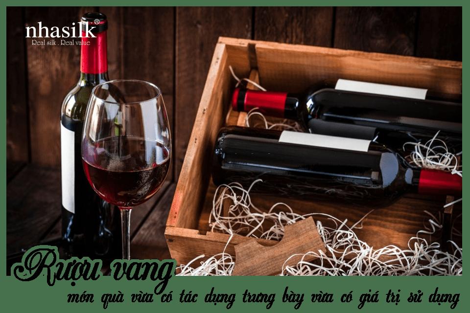 Rượu vang món quà vừa có tác dụng trưng bày vừa có giá trị sử dụng
