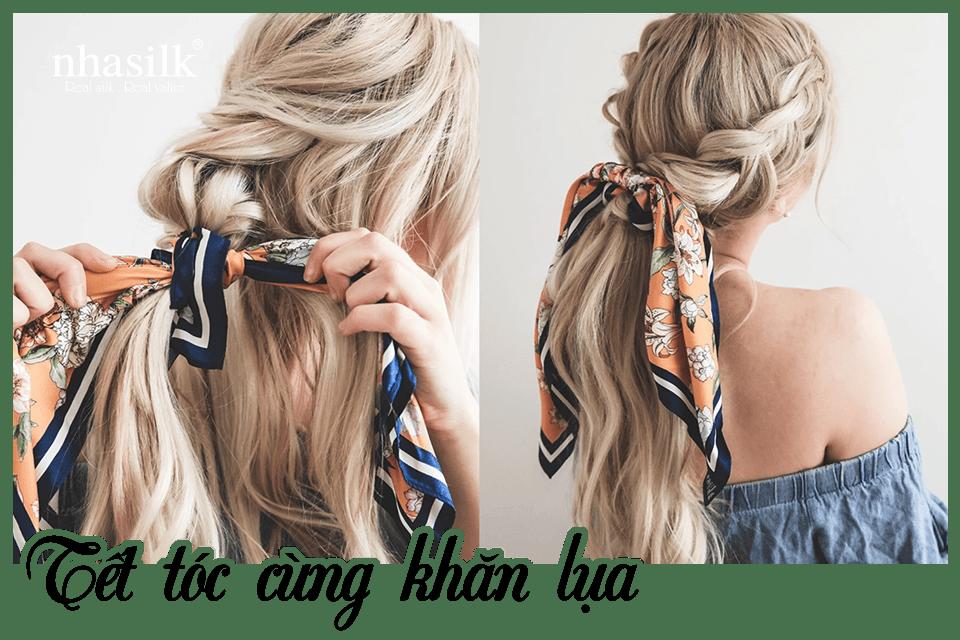 Tết tóc cùng khăn lụa