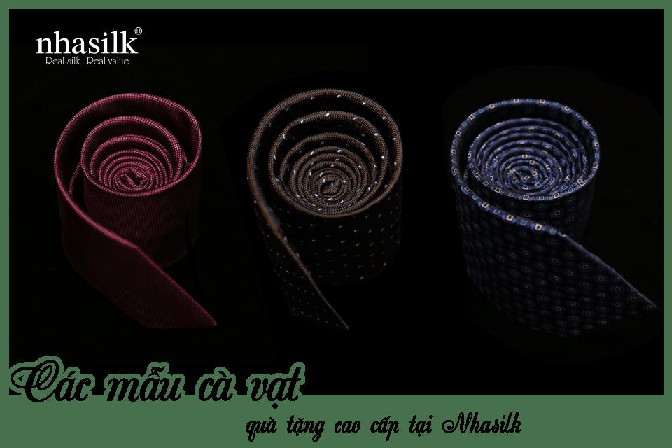 Các mẫu cà vạt quà tặng cao cấp tại Nhasilk