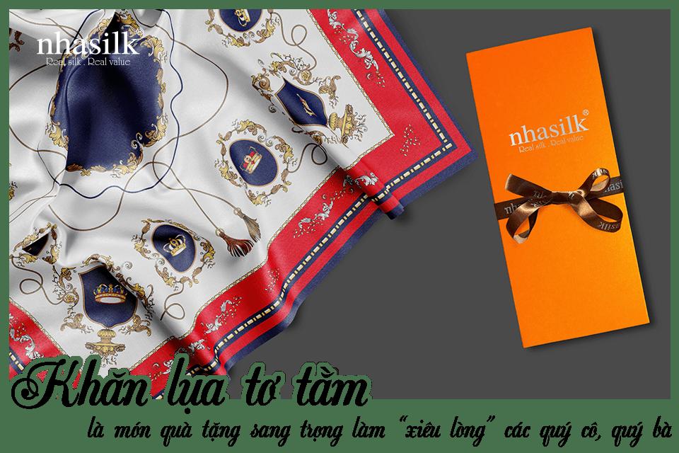 """Khăn lụa tơ tằm là món quà tặng sang trọng làm """"xiêu lòng"""" các quý cô, quý bà"""