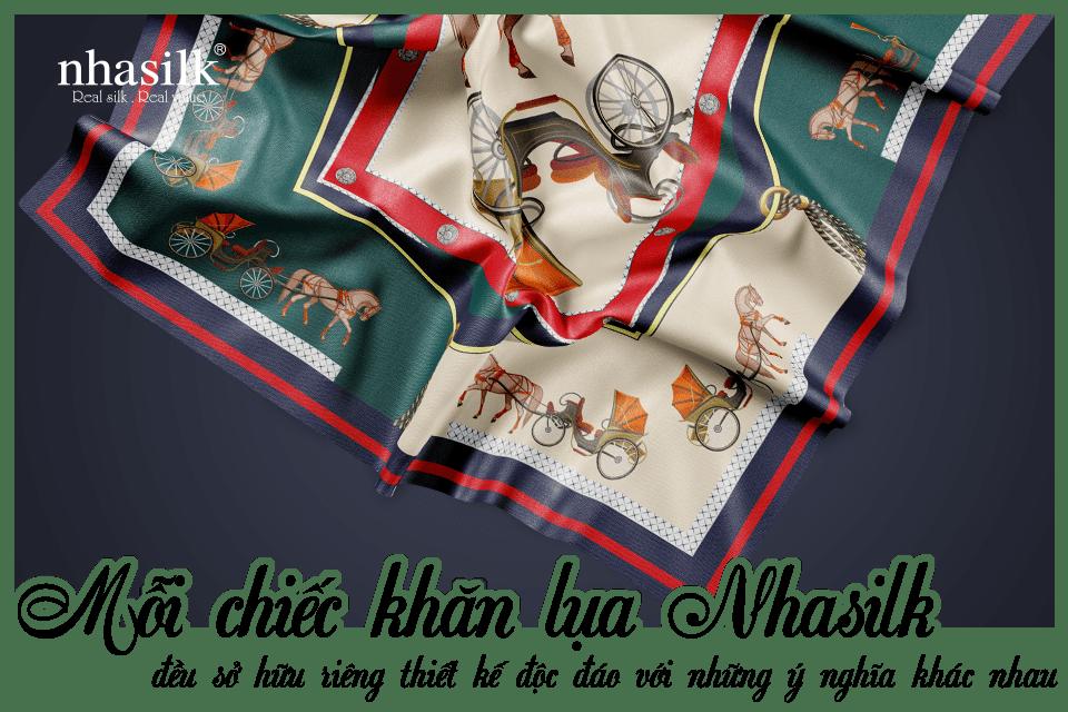 Mỗi chiếc khăn lụa Nhasilk đều sở hữu riêng thiết kế độc đáo với những ý nghĩa khác nhau