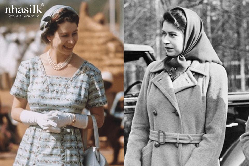 Ngay từ khi còn trẻ, người phụ nữ đứng đầu hoàng gia Anh đã yêu thích những chiếc khăn lụa xinh đẹp